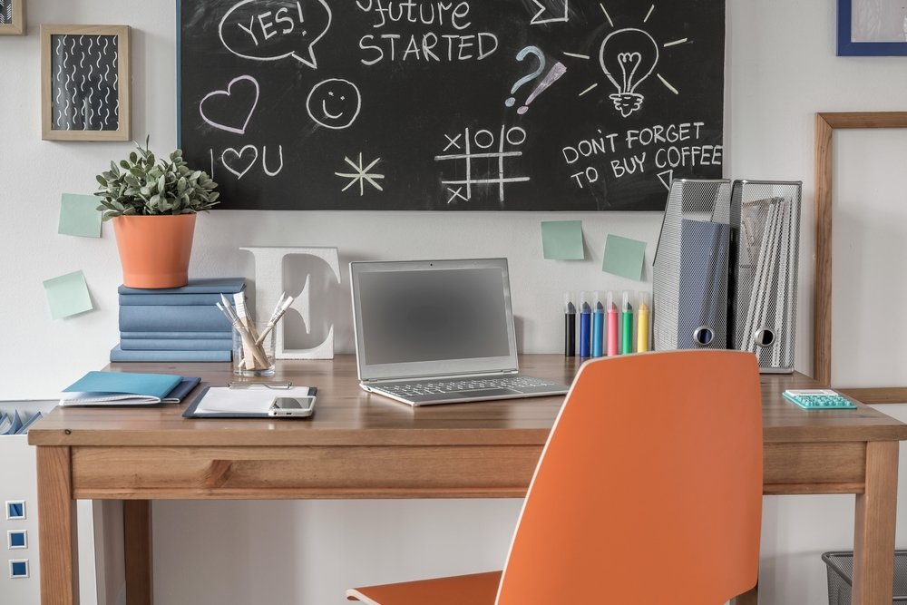 Create your own study space to increase your productivity.